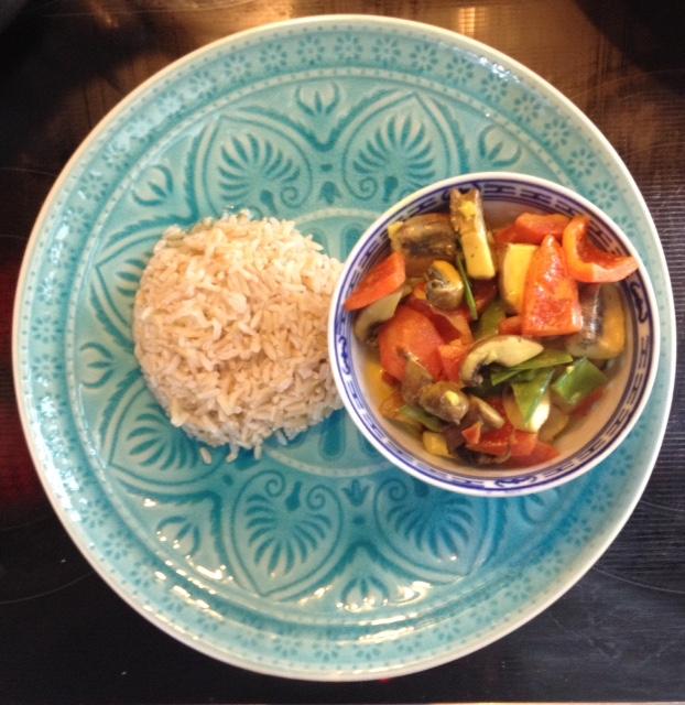 Kokos-Gemüse m Reis